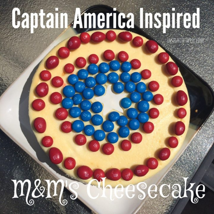 Captain America M&M's Cheesecake