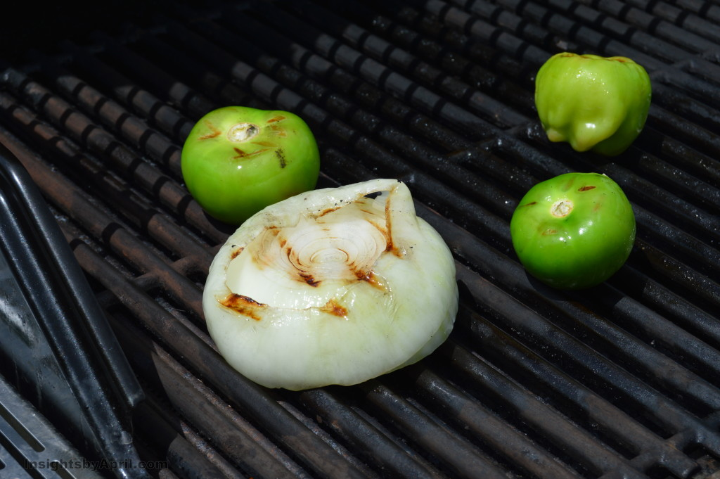 grilled tomatillo