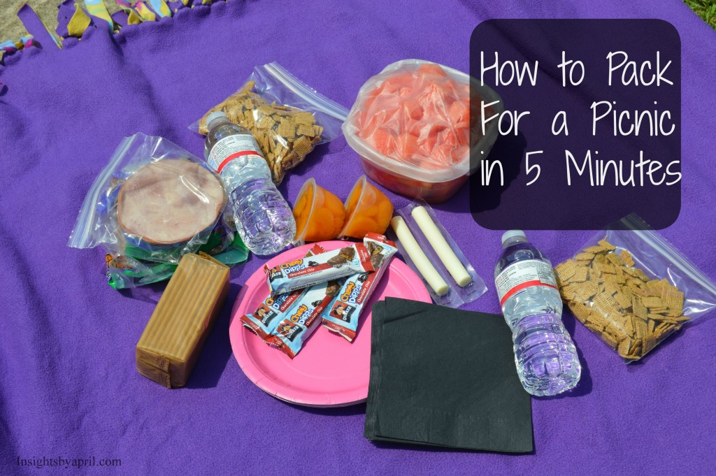 pack for a picnic in 5 minutes