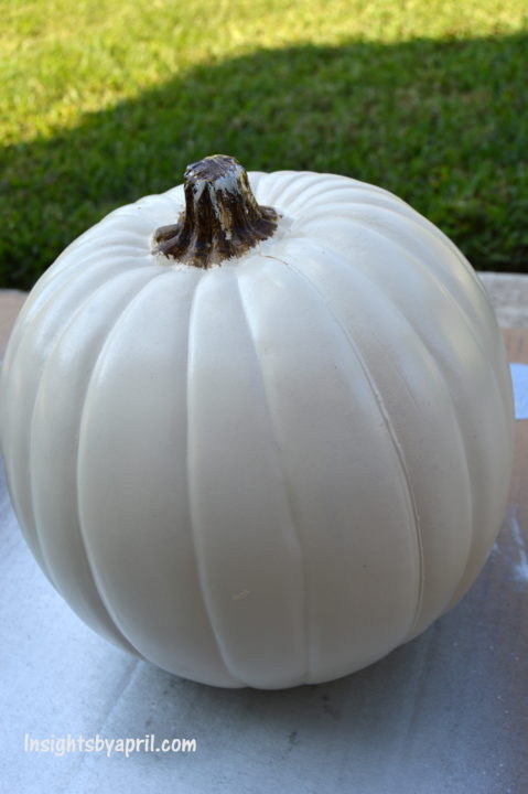 how to paint a plastic pumpkin