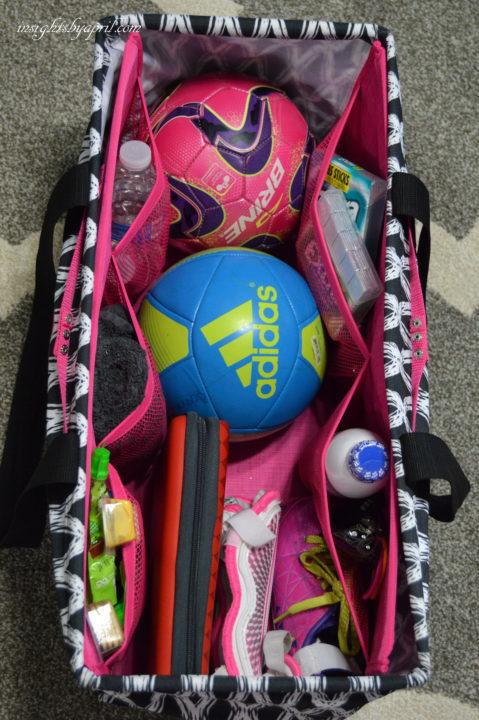 Ultimate Soccer mom bag packed