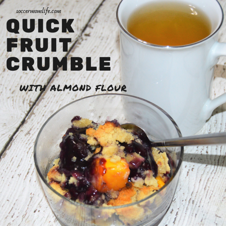 Quick Fruit Crumble with Almond Flour