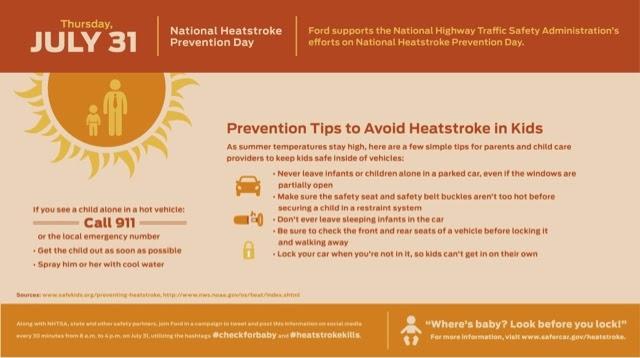 National Heatstroke Prevention Day #FordTX