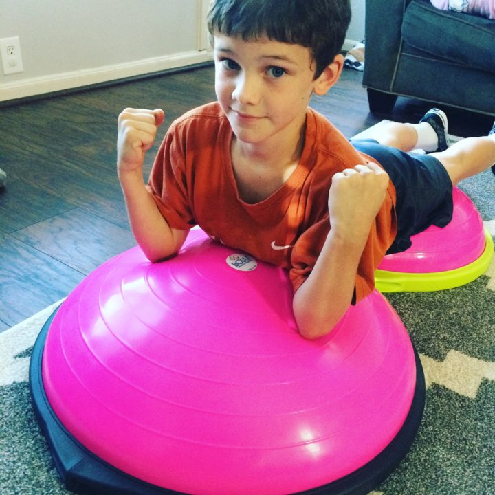 Fitness as a Family- We are Bosu Strong!