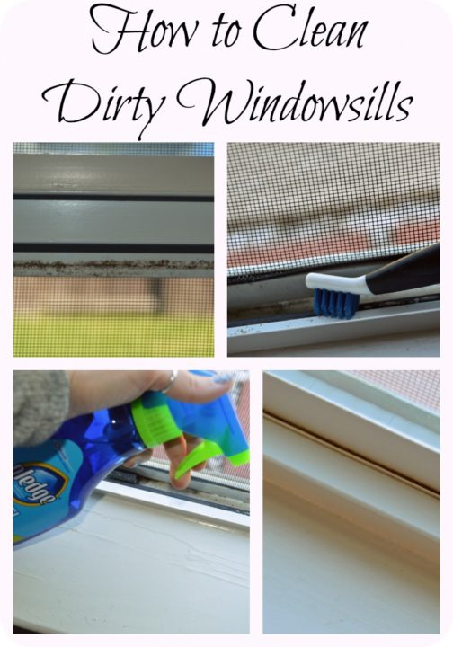 How to Clean Dirty Windowsills