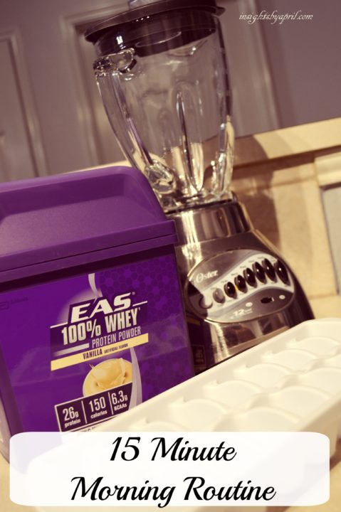 15 minute morning routine with EAS Whey Protein Powder