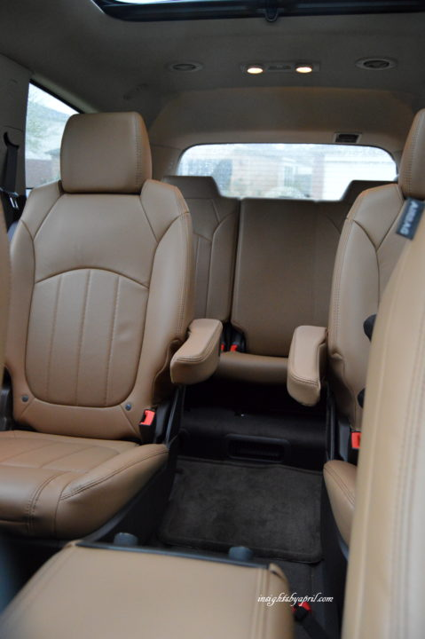 2016 buick enclave rear seating
