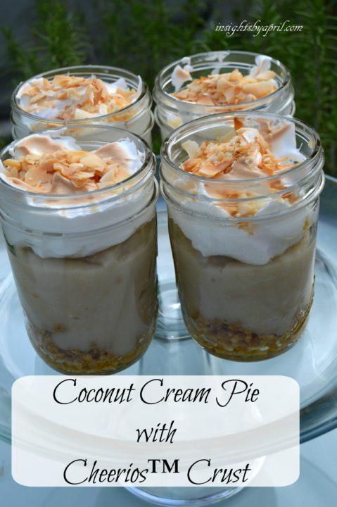 Coconut Cream pie with Cheerios Crust