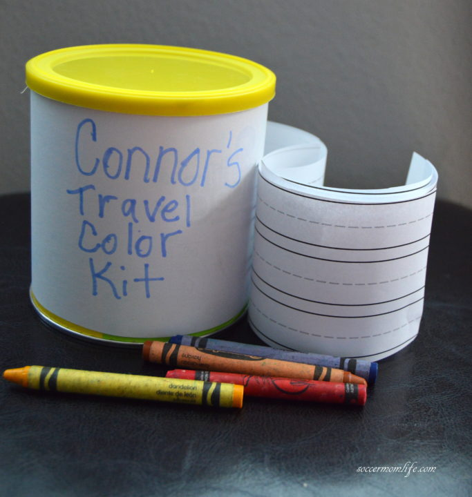DIY snack container coloring kit