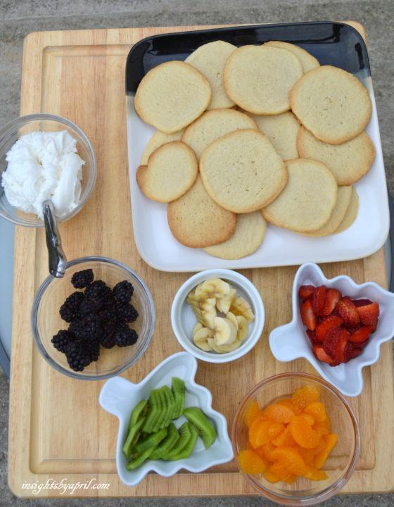 ingredients for rainbow fruit cookies
