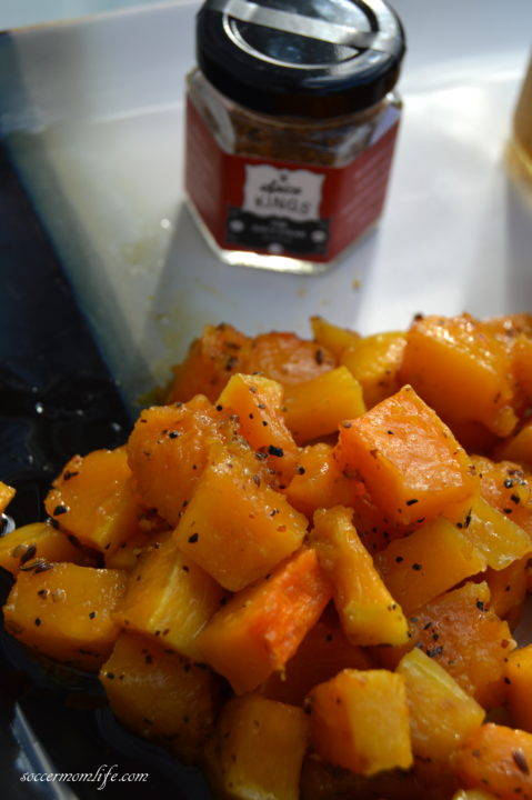 spice rubbed roasted butternut squash