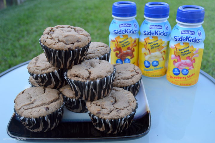 Chocolate chip muffins made with Pediasure sidekicks