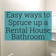 Easy Ways to Spruce up a Rental House Bathroom